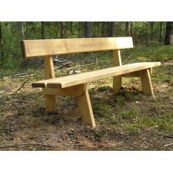Ławka drewniana L-50 - ławka parkowa