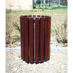 Kosz miejski KO-01 w obudowie drewnianej