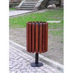 Kosz uliczny KO-02a w obudowie drewnianej
