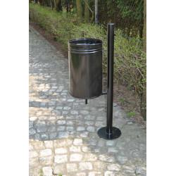 Kosz uliczny KO-10c stalowy uchylny