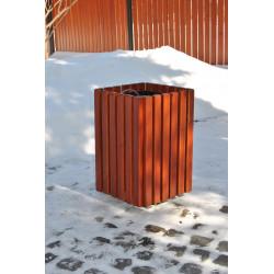 Kosz miejski KO-38 w obudowie drewnianej