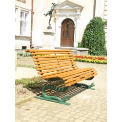 Ławka ogrodowa L-13 - ozdobna ławka żeliwna