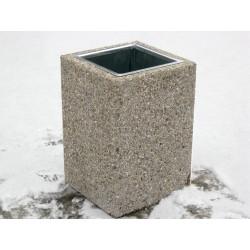 Kosz miejski KB-37b betonowy płukany bez daszka