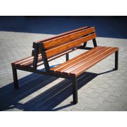 Ławka stalowa L-128 - ławka ogrodowa / miejska / parkowa