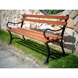 Ławka żeliwna L-92b  - ławka ogrodowa / miejska / parkowa