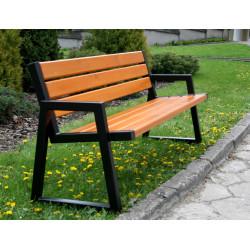 Ławka stalowa L-102 - ławka ogrodowa / miejska / parkowa