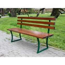 Ławka stalowa L-131 - ławka ogrodowa / miejska / parkowa
