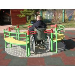 Karuzela tarczowa PZ-NS-03 dla wózków inwalidzkich