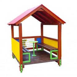 Domek PZD-24  z ławeczkami i stolikiem
