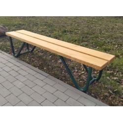 Ławka stalowa L-91 - ławka ogrodowa / miejska / parkowa