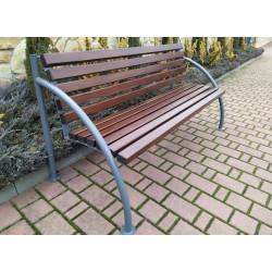Ławka stalowa L-103 - ławka ogrodowa / miejska / parkowa