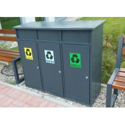 Kosz do sortowania odpadów KSO-02 stalowy