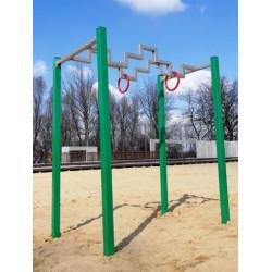 """""""Wojownik Ninja"""", labirynt z pierścieniami gimnastycznymi SW-23"""