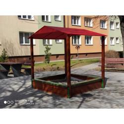 Piaskownica - PZD-01 kwadratowa zadaszona