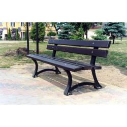 L-04a Ławka żeliwna - ławka ogrodowa / miejska / parkowa