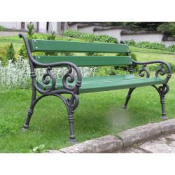 Ławka żeliwna L-15c - ławka ogrodowa / miejska / parkowa