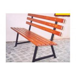 Ławka stalowa L-45a - ławka ogrodowa / miejska / parkowa