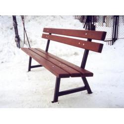 Ławka stalowa L-45b - ławka ogrodowa / miejska / parkowa
