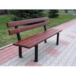 Ławka stalowa L-57 - ławka ogrodowa / miejska / parkowa