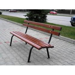 Ławka stalowa L-58a - ławka ogrodowa / miejska / parkowa