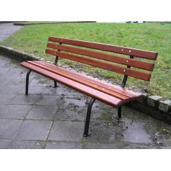 Ławka stalowa L-58b - ławka ogrodowa / miejska / parkowa