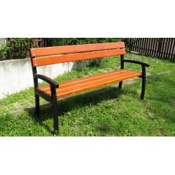 Ławka stalowa L-65a - ławka ogrodowa / miejska / parkowa