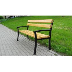 Ławka stalowa L-65b - ławka ogrodowa / miejska / parkowa