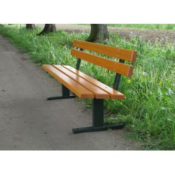 Ławka stalowa L-70 - ławka ogrodowa / miejska / parkowa