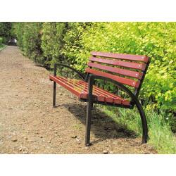Ławka stalowa L-73 - ławka ogrodowa / miejska / parkowa