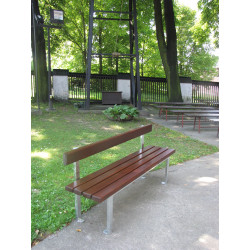 Ławka stalowa L-86 - ławka ogrodowa / miejska / parkowa