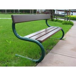 Ławka stalowa L-90 - ławka ogrodowa / miejska / parkowa