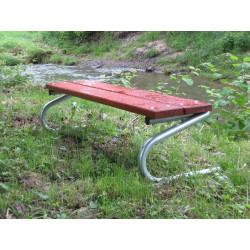 Ławka stalowa L-96 - ławka ogrodowa / miejska / parkowa
