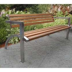 Ławka stalowa - L-105 - ławka ogrodowa / miejska / parkowa