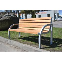 Ławka stalowa L-107 - ławka ogrodowa / miejska / parkowa