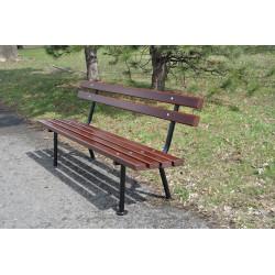 Ławka stalowa L-108 - ławka ogrodowa / miejska / parkowa