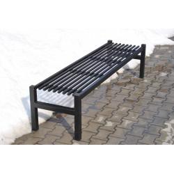 Ławka stalowa L-109 - ławka ogrodowa / miejska / parkowa